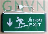 Đèn EXIT GNVN cầu thang chỉ xuống 1 mặt HW-128LED